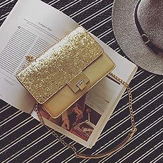 Adebie - Korean Fashion New Shiny Women Cross Body Bag Paillette Bling Bling Female Chain Messenger Bag Popular Party Lady Leather Bag Gold []