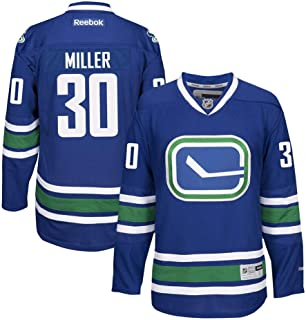 Reebok Ryan Miller Vancouver Canucks NHL Blue Official Premier Home Jersey Men