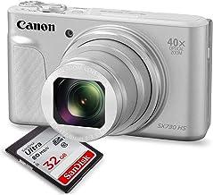 Canon PowerShot SX730 HS Digital Camera (Silver) w/ 32 GB