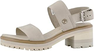 Timberland Women's Violet Marsh 2-Band Sandal Light Taupe/Pure Cashmere 9 US
