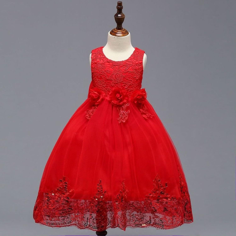RBB Baby Hochzeit Prinzessin Tutu Blaumenmädchen Prinzessin Prinzessin Prinzessin Dress,rot,140 cm B07FDXP1HQ  Fairer Preis 0b916a