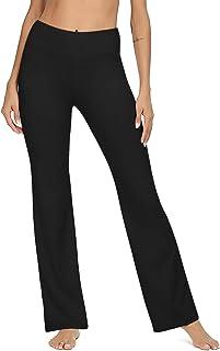 VIISHOW Women's Boot-Cut Yoga Pants Tummy Control Workout Non See-Through Bootleg Yoga Pants