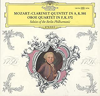 Soloists Of The Berlin Philharmonic: Mozart Clarinet Quintet In A / Oboe Quartet In F LP VG++/NM