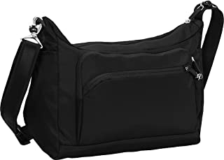 eBags Anti-Theft Carry All Crossbody - Multi Pocket Expandable Bag for Travel & Everyday - (Black)