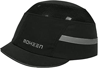 Safety Bump Cap, Baseball Hat Style, Breathable Head Protection Black Micro Brim