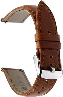 TRUMiRR 22mm Crazy Horse Reloj de Cuero Genuino Correa de liberación rápida para Samsung Gear S3 Classic Frontier Gear 2 Neo Live Moto 360 2 46mm ASUS ZenWatch 1 2 Hombres Pebble Time