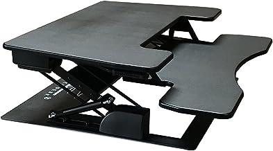 "Fancierstudio Riser Desk Standing Desk Extra Wide 38"" Fits Two Monitor Max Height 17.7"" Work Stand Desk Computer Desk RD-0..."