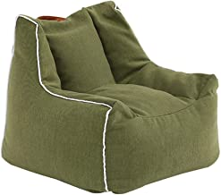 TWDYC Kids Adults Bean Bag Chairs Couch Sofa Cover Indoor Lazy Lounger Toys Storage Bag (Color : Green)