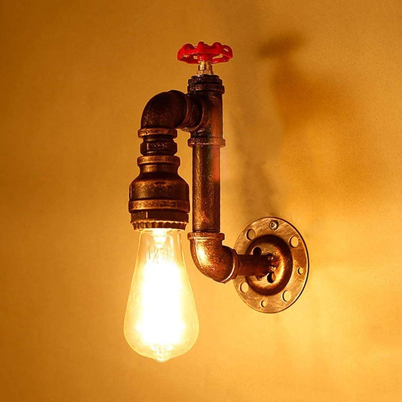 JU Retro Loft Nachttischlampe Restaurant Bar Cafe Korridor Gang Industrie Industrie Industrie Feng Shui Rohr Wandleuchte B07HL7YNN4 | Schönes Design  f6dfd7