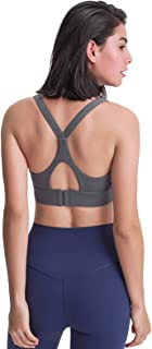 Adjustable Sports Bra for Women, Breathable Shockproof Fitness Workout Running Yoga Tank Top,Gray,4