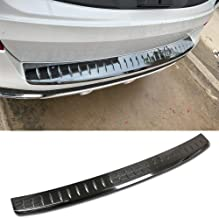 Beautost Fit for BMW 2019 New X5 G05 Rear Bumper Sill Plate Guard Cover Trim Stainless Steel (Black)