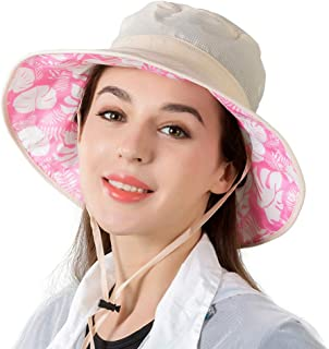 lanliebao Women's rain hat Outdoor UV Protection Foldable Mesh Wide Brim Beach Fishing Hat