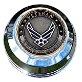 motordog69Harley Gas Cap moneda pantalla plana Set con fuerza aérea veteranos para Softail Dyna Road King Sportster......