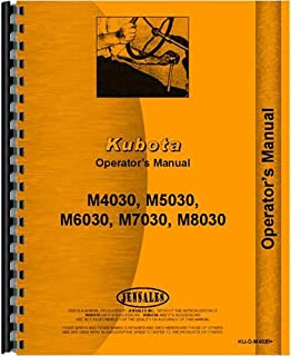 Operators Manual For Kubota Tractor M6030 M6030DT (Diesel 2 and 4 Wheel Drive)
