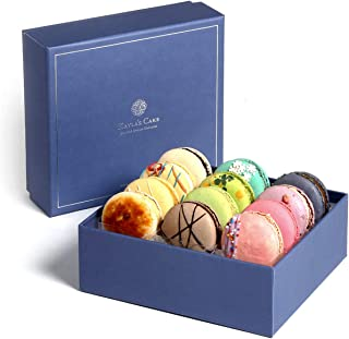 French Macarons Premium Gourmet Cookies Chocolate Gift Basket Desserts Food Box Birthday Cake Graduation Assortments Snack Care Package College Student Holiday Thank You Anniversary her him Classic 12