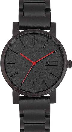 dc012f93b Relógio de Madeira Woodz Black Knight (Pulseira de Madeira)