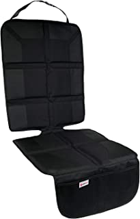Padded Anti-Slip Car-Seat Seat Protector –XL Size for Maximum Coverage – PVC Leather Reinforced Car and Truck Seat Covers – Durable, Waterproof Car Seat Protector with 2 Large Pockets for Storing Toys