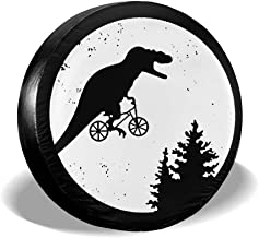 ULNL T-Rex Moon Spare Wheel Tire Cover Funny Waterproof Tire Protectors Novelty