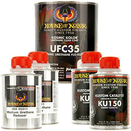 House of Kolor Quart Kit Kosmic Urethane Flo-Klear Top Coat Clear
