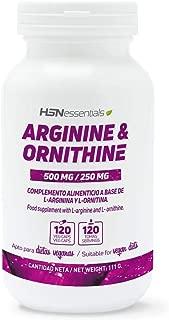 HSN Essentials L-ARGININE L-ORNITHINE 500mg 250mg 120 Veg Caps