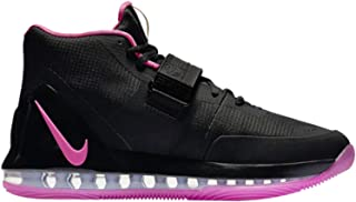 Men's Air Force Max Black/Pink Blast/Blue Chill/Anthracite Leather Basketball Shoes 11 M US