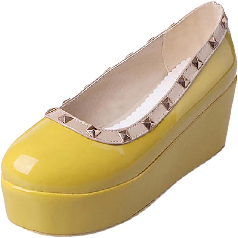 CarziCuzin Women Cute Flatform Pumps shoes