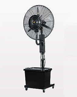 Ventilador de nebulización humidificador industrial, Ventilador de servicio pesado Ventilador de enfriamiento oscilante potente Ruido silencioso, Circulador de aire frío de alta velocidad Ventilador