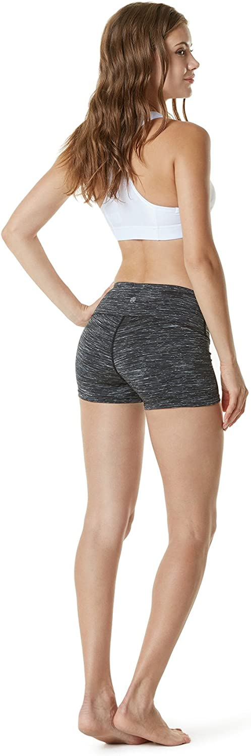 TSLA Womens Yoga Shorts with Medium//High Waist and Hidden Pocket Workout Running Shorts and Opaque Shorts with Athletic Stretch