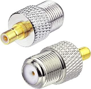 ELIKLIV SMB to F Connector SMB Male to F Female Connector RF Coaxial Adapter for XM Sirius Satellite Radio etc. 2 Pcs