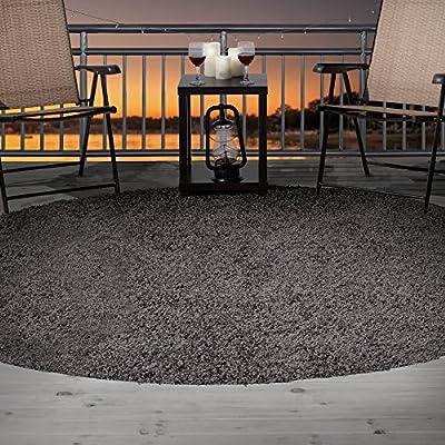 Lavish Home Outdoor/Indoor Shag Rug