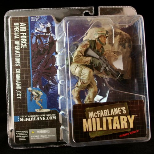 AIR FORCE SPECIAL OPERATIONS COMMAND, CCT AFRICAN AMERICAN VARIATION McFarlane's Military Series 1 Action Figure & Display Base