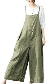 WSPLYSPJY Womens Strappy Jumpsuits Overalls Casual Harem Pants Low Crotch Loose Trousers
