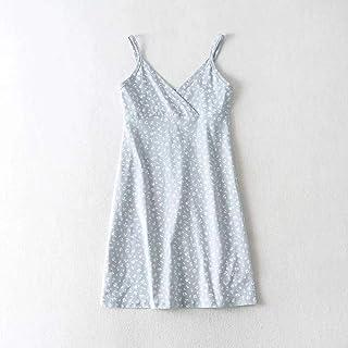 Ladies' small fresh floral casual slim slimming V-neck bag hip sling dress