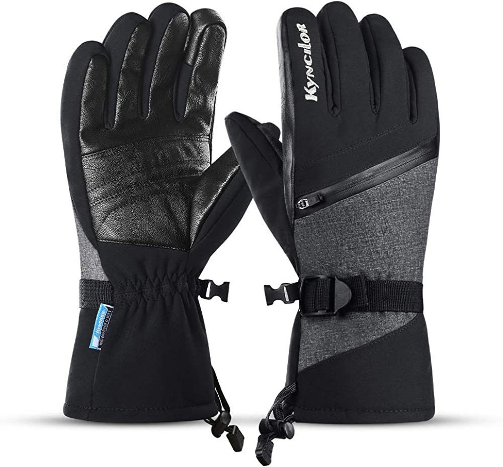 Kyncilor Ski Gloves Thinsulate Insulated Touchscreen Waterproof Gloves