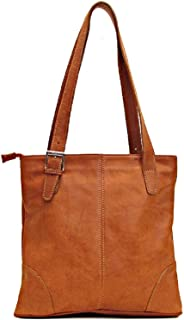 Tavoli Shoulder Bag in Saddle Brown Italian Calfskin Leather