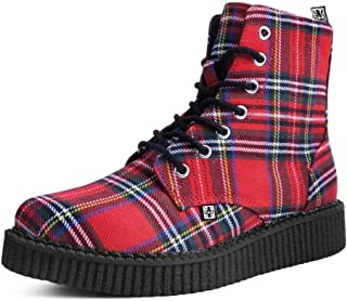T.U.K. Shoes A9503 Unisex-Adult Boots, Red Plaid Pointed Lace Up Boot