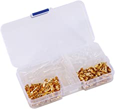 Bullet Connectors,120pcs Brass 3.5mm Bullet Male and Female Terminals Gold Plated Bullet Connectors Plug with Insulation Cover