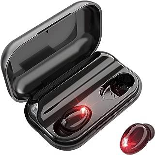 【2019最新版 140時間連続駆動 】Bluetooth イヤホン Hi-Fi高音質 AAC対応 IPX6防水 最新bluetooth 5.0+EDRが搭載 140時間連続駆動 完全ワイヤレス イヤホン ブルートゥース イヤホン 両耳 左右分離型 自動ON/OFF ボリューム調節可能 PSE&技適認証済み Siri対応 iPhone/iPad/Android適用