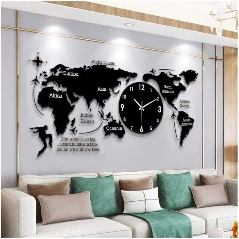 JYHH Wall clockWorld Arlington Mall Map online shop Living Modern Room Decor Creative Clock