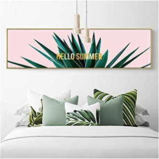 HYFBH Canvas Print Wall Art Abstract Flower Planting Modern Flower Painting Canvas Painting for Living Room Wall Picture Decor-60x120cm No Frame