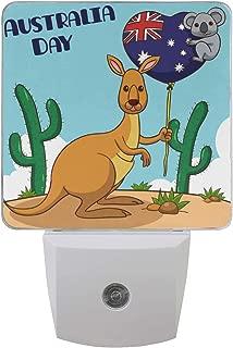 Australia Day Kangroo and Kola LED Night Light Lamp with Dusk to Dawn Sensor for Bedroom Bathroom Hallway Stairways