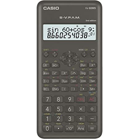 Casio FX-82MS 2nd Gen Non-Programmable Scientific Calculator, 240 Functions and 2-line Display