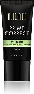 Milani Prime Correct Face Primer - Corrects Redness + Pore-Minimizing (0.85 Fl. Oz.) Vegan, Cruelty-Free Face Makeup Primer to Color Correct Skin & Reduce Appearance of Pores