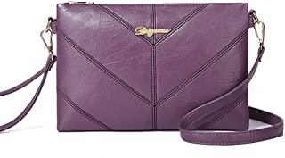Crossbody Summer noon mom's Wild Shoulder Soft Leather Bag for a Good Gift for mom,Purple