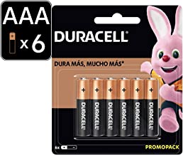 Duralock Pilha Alcalina AAA com 6 Unidades, Duracell