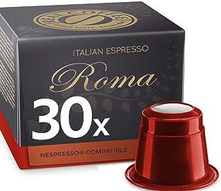 Italian Espresso Roma by REAL COFFEE, Denmark, 30 Capsules, Nespresso Compatible