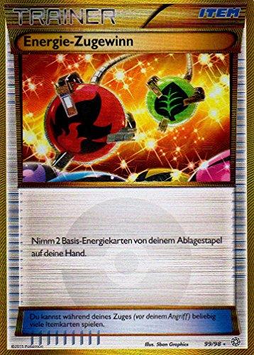 Energie Zugewinn - 99/98 Ewiger Anfang - Shiny Trainer Karte Deutsch Pokemon