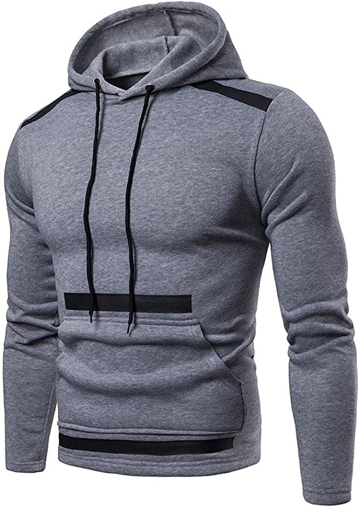Qsctys Men's Hoodies Pullover Crewneck - Workout Gym Sport Sweatshirts Athletic Casual Fashion Hooded with Pocket