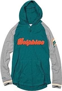 Mitchell & Ness Miami Dolphins NFL Men's Slugfest Lightweight Hooded Shirt
