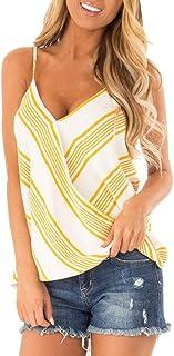 Camiseta Mujer Reducción de Precio Chaleco de Verano Parte Superior Sin MangasImpresión Casual Tanque Tops Camiseta Suelt...